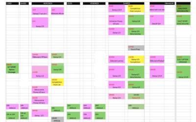 Planning 22 au 28 février