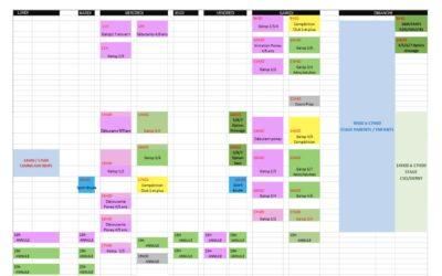 Planning 5 au 11 avril
