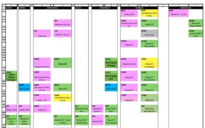 Planning du 7 au 13 juin