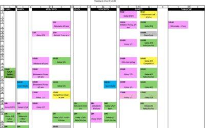 Planning du 14 au 20 juin