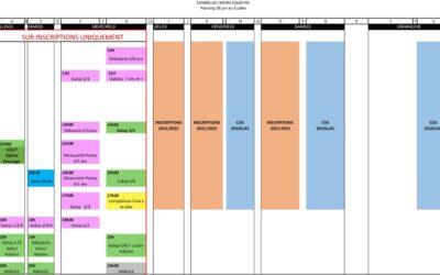 Planning du 28 juin au 4 juillet