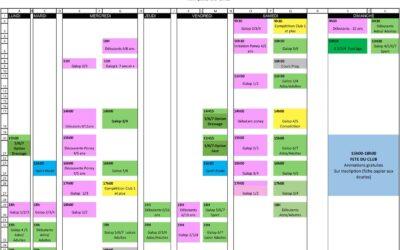 Planning du 21 au 27 juin